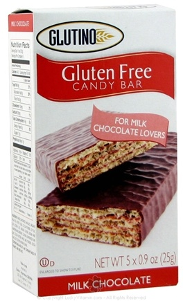 DROPPED: Glutino - Gluten Free Candy Bars Milk Chocolate - 5 Pack