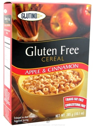 DROPPED: Glutino - Gluten Free Cereal Apple and Cinnamon - 10.1 oz. CLEARANCE PRICED