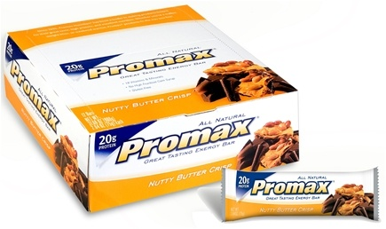 DROPPED: Promax - 70 All Natural Snack Bar Nutty Butter Crisp - 0.66 oz. CLEARANCE PRICED