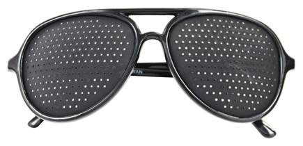 Natural Eyes - Pinhole Glasses Full Frame Black