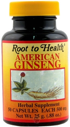 DROPPED: Root To Health - American Ginseng Supplement - 50 Capsules