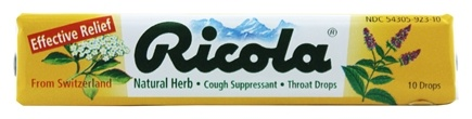 Ricola - Natural Herb Throat Drops Natural Herb - 10 Drops
