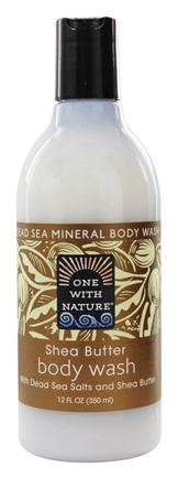 One With Nature - Dead Sea Mineral Body Wash Moisturizing Shea Butter - 12 oz.