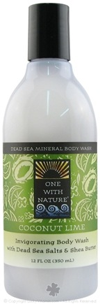 DROPPED: One With Nature - Dead Sea Mineral Body Wash Invigorating Coconut Lime - 12 oz.