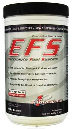 DROPPED: 1st Endurance - EFS Energizing Sports Drink Mild Grape - 1.8 lbs. CLEARANCE PRICED