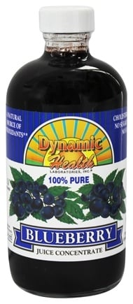 Dynamic Health - Juice Concentrate 100% Pure Blueberry - 8 oz.