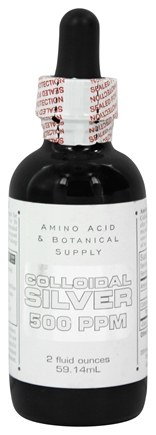 DROPPED: Amino Acid & Botanical - Colloidal Silver 500 Ppm - 2 oz.