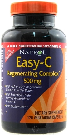 DROPPED: Natrol - Easy-C Regenerating Complex 500 mg. - 120 Vegetarian Capsules CLEARANCE PRICED