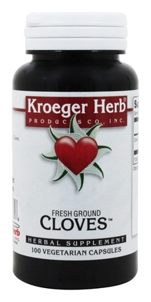 Kroeger Herbs - Herbal Combinations Fresh Ground Cloves - 100 Vegetarian Capsules