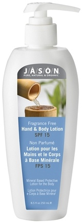 DROPPED: Jason Natural Products - Hand and Body Lotion Fragrance-Free 15 SPF - 8.5 oz.