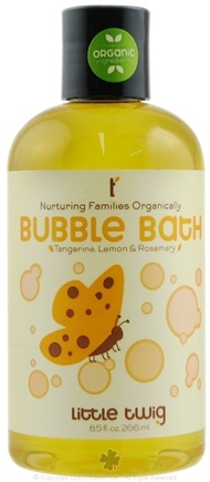 DROPPED: Little Twig - Bubble Bath Organic Tangerine, Lemon and Rosemary - 8.5 oz.