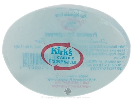 DROPPED: Kirk's Natural - Deodorant Glycerin Vegetable Soap Bar Blue - 4 oz. CLEARANCE PRICED