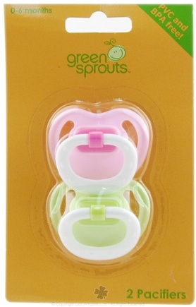 DROPPED: Green Sprouts - Silicone Basic Newborn Pacifier Stage 1 0-6 Months Green & Pink - 2 Pack CLEARANCE PRICED