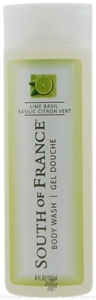 DROPPED: South of France - Body Wash Lime Basil - 8 oz.
