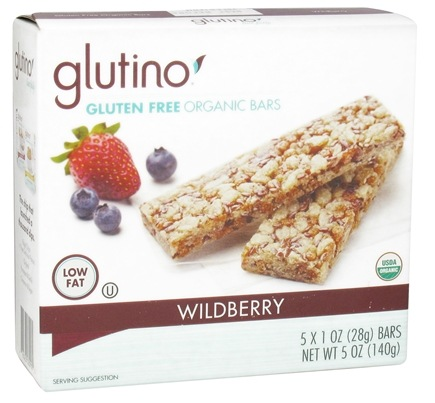 DROPPED: Glutino - Gluten Free Organic Bars Wildberry - 5 x 1 oz.