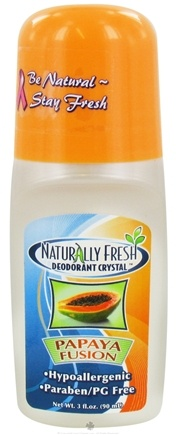 DROPPED: Naturally Fresh - Deodorant Crystal Roll-On Papaya Fusion - 3 oz. CLEARANCED PRICED