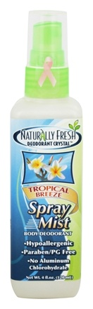 Naturally Fresh - Deodorant Crystal Spray Mist Body Tropical Breeze - 4 oz.