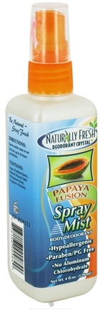 DROPPED: Naturally Fresh - Deodorant Crystal Spray Mist Body Papaya Fusion - 4 oz. CLEARANCE PRICED