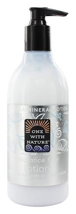 One With Nature - Dead Sea Mineral Hand & Body Lotion Restorative Fragrance Free - 12 oz.