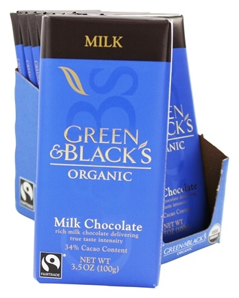 DROPPED: Green & Black's Organic - Milk Chocolate Bar 34% Cocoa - 3.5 oz.