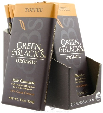 DROPPED: Green & Black's Organic - Toffee Milk Chocolate Bar 34% Cocoa - 3.5 oz.