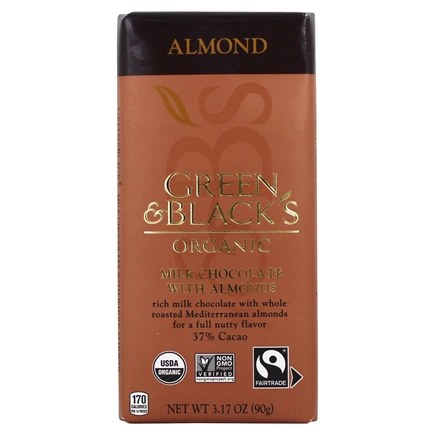 Green & Black's Organic - Almond Milk Chocolate Bar 37% Cacao - 3.5 oz.
