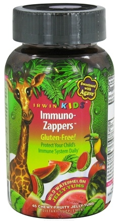 DROPPED: Irwin Naturals - Irwin Kids Immuno-Zappers Jelly-Yums Wild Watermelon - 45 Gummies