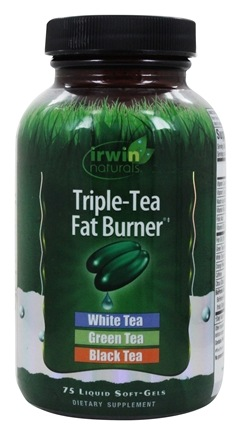 Irwin Naturals - Triple-Tea Fat Burner - 75 Softgels