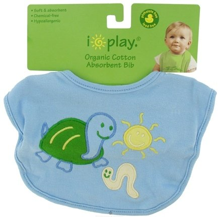 DROPPED: Green Sprouts - Organic Cotton Infant Bib Turtle Blue 6-12 Months - CLEARANCE PRICED