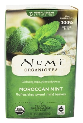 Numi Organic - Herbal Tea Moroccan Mint - 18 Tea Bags