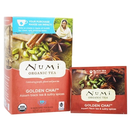 Numi Organic - Black Tea Golden Chai - 18 Tea Bags