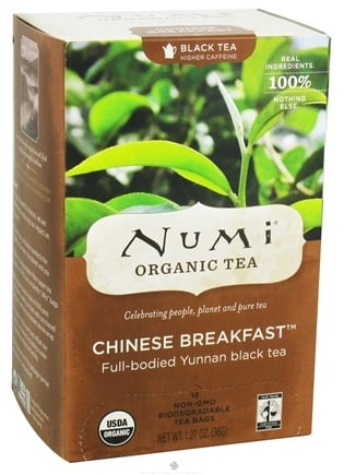 Numi Organic - Black Tea Chinese Breakfast - 18 Tea Bags