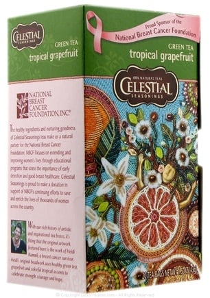 DROPPED: Celestial Seasonings - Green Tea Tropical Grapefruit - 20 Tea Bags