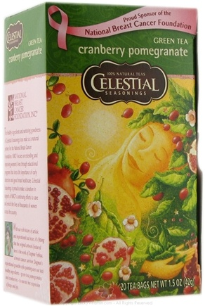 DROPPED: Celestial Seasonings - Green Tea Cranberry Pomegranate - 20 Tea Bags
