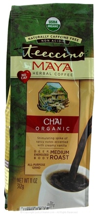 DROPPED: Teeccino - Maya Herbal Coffee Chai Medium Roast Organic - 11 oz. CLEARANCE PRICED
