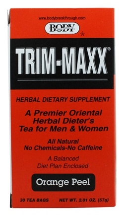 Body Breakthrough - Trim-Maxx Herbal Dieter's Tea for Men and Women Orange Peel - 30 Tea Bags