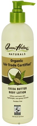 DROPPED: Queen Helene - Organic Fair Trade Certified Cocoa Butter Body Lotion - 12 oz.