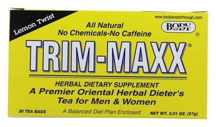 Body Breakthrough - Trim-Maxx Herbal Tea Lemon Twist - 30 Tea Bags