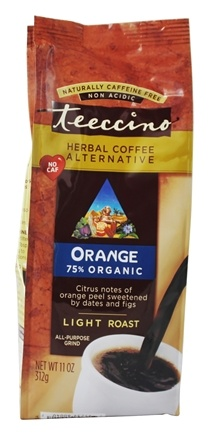 Teeccino - Herbal Coffee Alternative 75% Organic Orange - 11 oz. Formerly: Mediterranean Herbal Coffee Original Light Roast 75%
