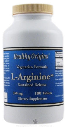 DROPPED: Healthy Origins - L-Arginine Vegetarian Formula 350 mg. - 180 Tablets CLEARANCE PRICED