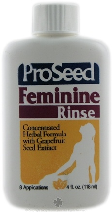 DROPPED: ProSeed - Feminine Rinse Concentrated Herbal Formula with Grapefruit Seed Extract - 4 oz. CLEARANCE PRICED