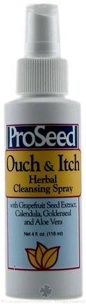 DROPPED: ProSeed - Ouch & Itch Herbal Cleansing Spray with Grapefruit Seed Extract - 4 oz. CLEARANCE PRICED