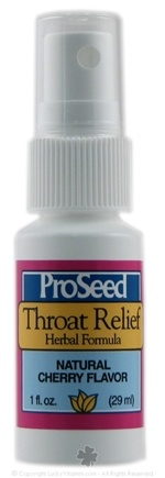 DROPPED: ProSeed - Throat Relief Herbal Formula Natural Cherry Flavor - 1 oz.