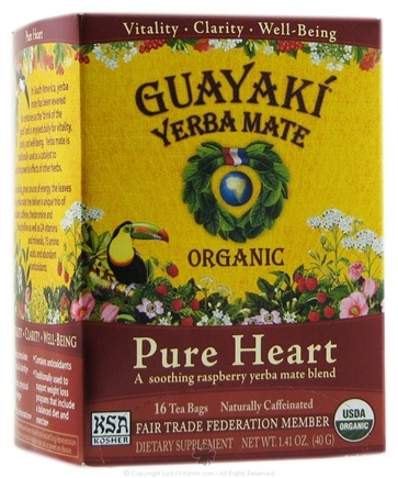 DROPPED: Guayaki - Yerba Mate Pure Heart 100% Organic - 16 Tea Bags