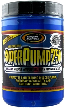 DROPPED: Gaspari Nutrition - SuperPump250 Nitric Oxide Xtreme Raspberry Lemonade - 1.76 lbs.