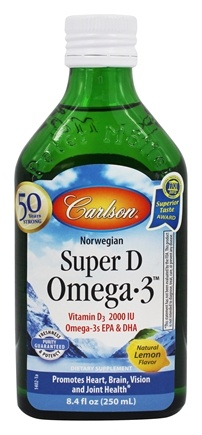 Carlson Labs - Super D Omega-3 Liquid Lemon 2000 IU - 8.4 oz.