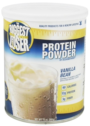 DROPPED: Designer Protein - Designer Whey The Biggest Loser All Natural Protein Supplement Vanilla Bean - 10 oz.