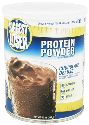 DROPPED: Designer Protein - Designer Whey The Biggest Loser All Natural Protein Supplement Chocolate Deluxe - 10 oz.