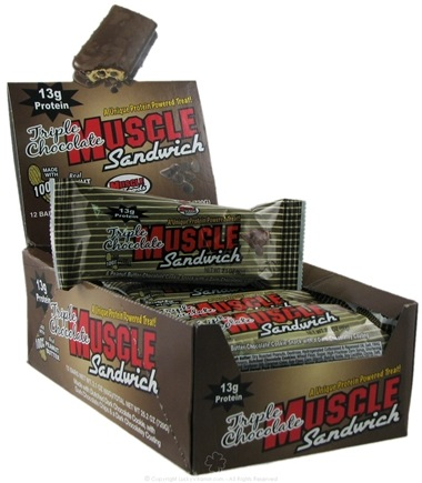 DROPPED: Muscle Foods - Muscle Sandwich Wafer Snack Bar Triple Chocolate - 2 oz.