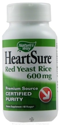 DROPPED: Nature's Way - HeartSure Red Yeast Rice 600 mg. - 60 Vegetarian Capsules CLEARANCE PRICED